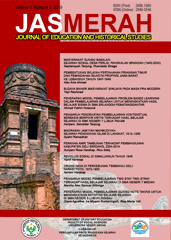 Jasmerah: Journal of Education and Historical Studies